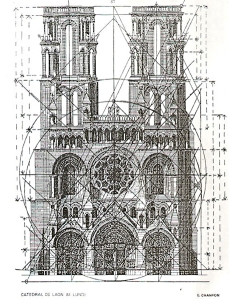 Laon Cathedral's regulator lines