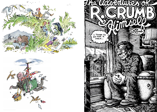 Quentin Blake and Robert Crumb
